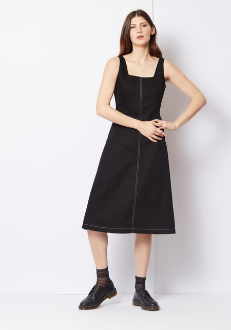 Veda Decade Dress - Black Denim