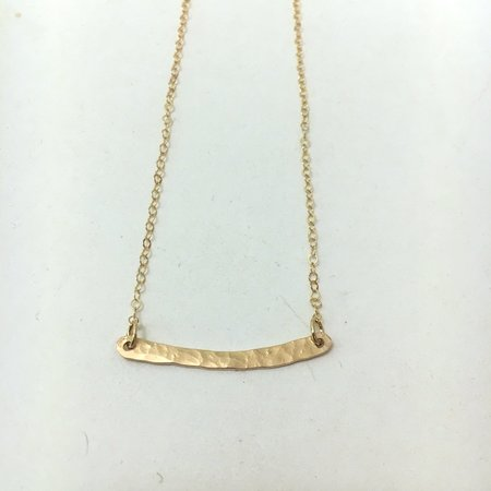 Silversheep Jewelry Hammered Bar Necklace - Gold