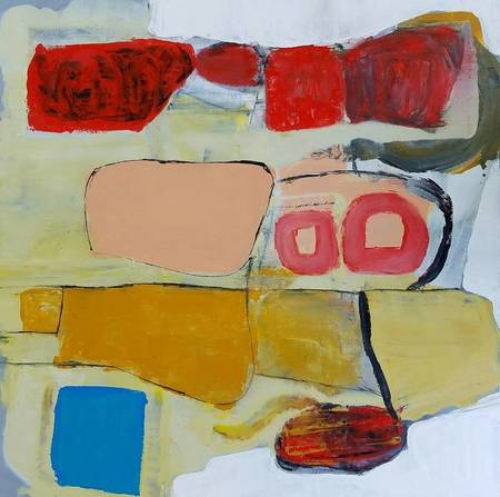 """Alan Taylor Jeffries """"Life During TV"""" Oil on Canvas"""