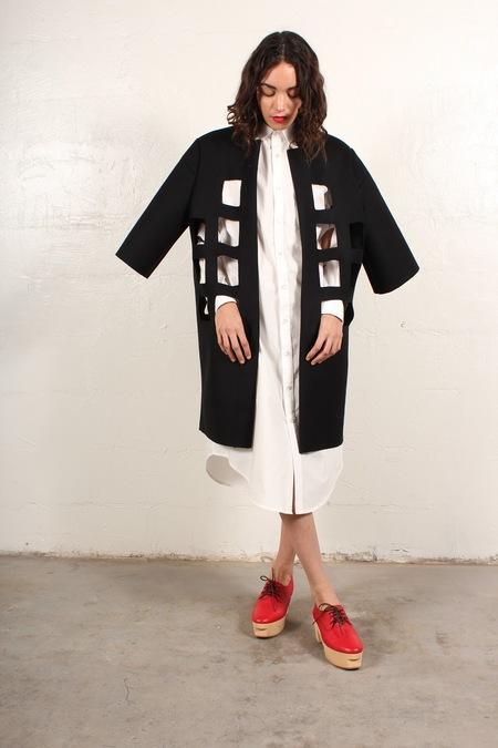 nancystellasoto Cutout Coat