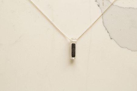Keane Punaluu Sand Vial Tube Necklace - Silver