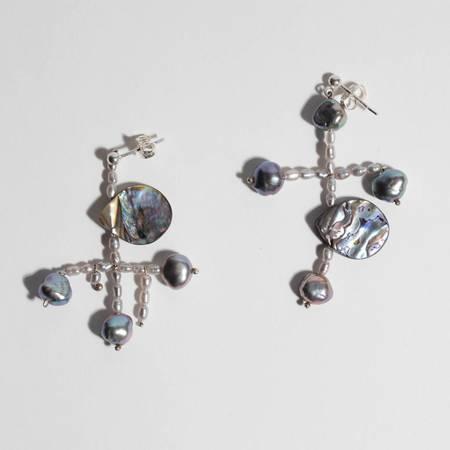 Unearthen Jewelry Grey Pearl/Abalone Earrings