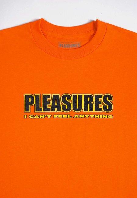 PLEASURES Feel My Face T-Shirt - orange
