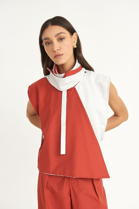 WYLDE Chouaib Colorblock Top - Red