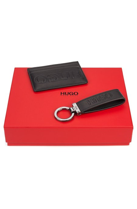 Hugo Card Holder and Key Ring Box - Black
