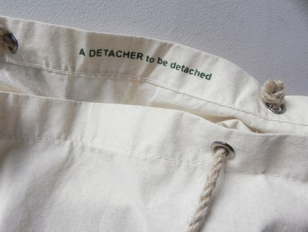 A DETACHER TOTE WITH ROPE HANDLES - WHITE