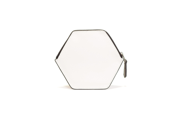 Nº21 Hexa Wallet in White and Black