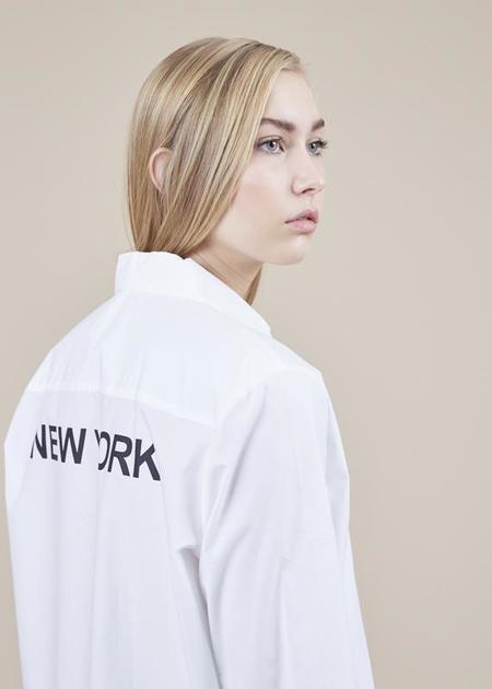 Sibel Saral Joy Button-Up Shirt - White/New York