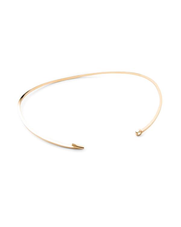 Miansai Thin Gold Fish Hook Necklace