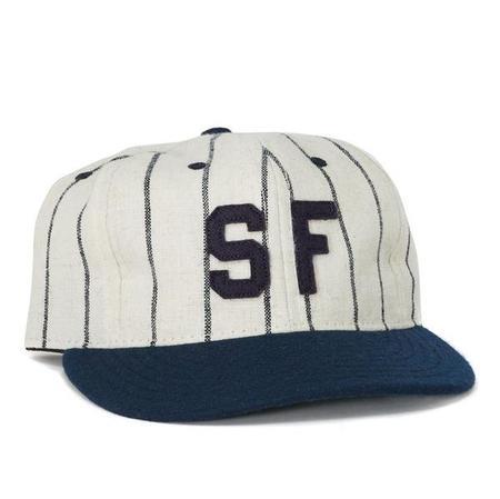 Ebbets Field Flannels San Francisco Seals 1946 Ball Cap - Pinstripe/Navy