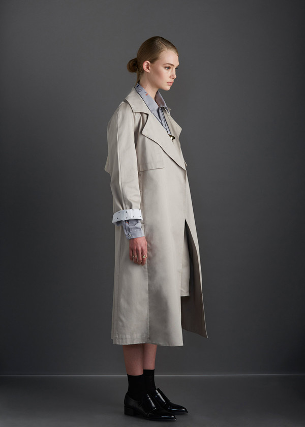 Kowtow KEEPSAKE TRENCH - BLACK
