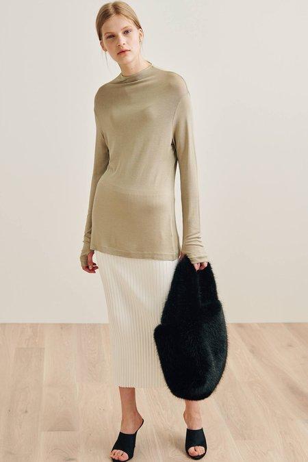 Totême Knitted Rib Skirt - Off White