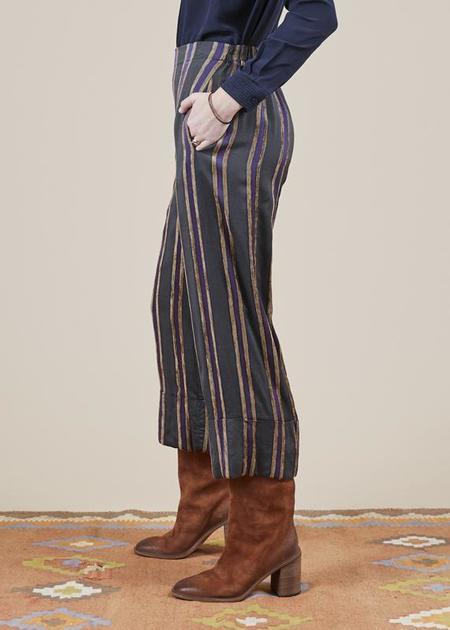annette gortz Masha Striped Pant - charcoal/gold