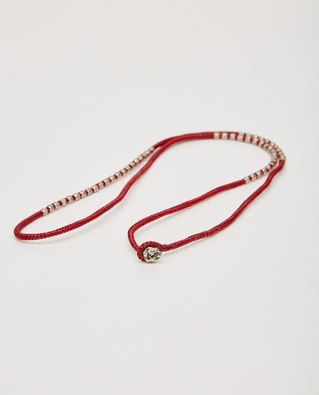 M. COHEN KNOTTED 4 WRAP SILVER THAI HAM - RED