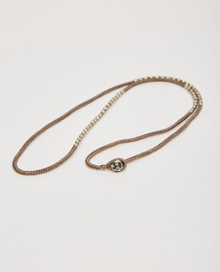 M. COHEN KNOTTED 4 WRAP SILVER THAI HAM - TAUPE