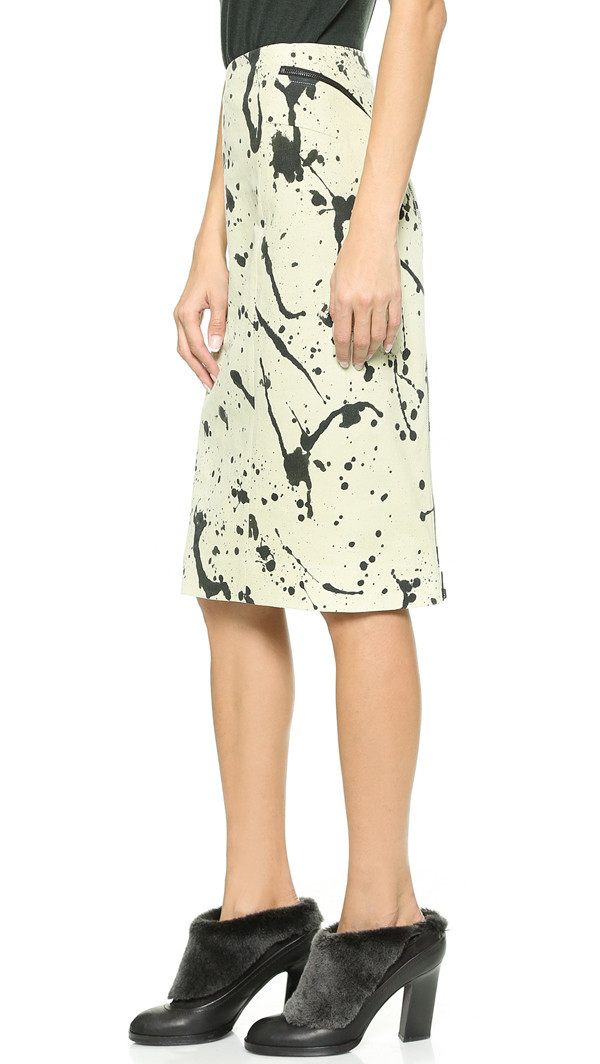 Rag & Bone Tail Zip Skirt