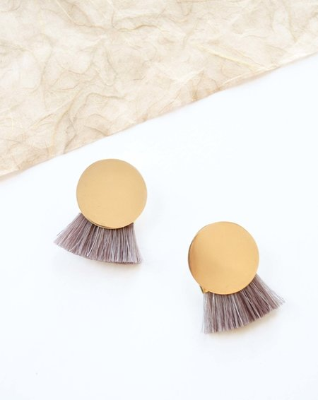 Anna Monet Iris Earrings - Redwood