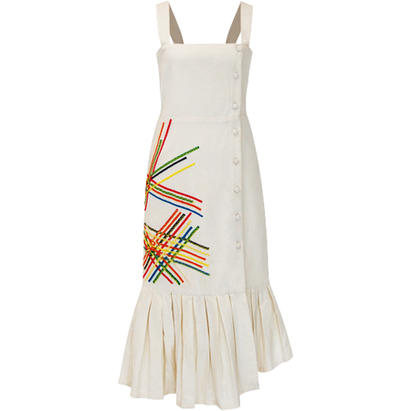 All Things Mochi Karma Overall Dress - Cream