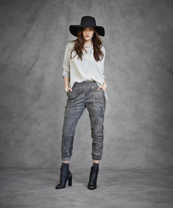 Laura Siegel Leather Sweatpants