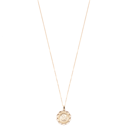 MOD + JO St. Christopher Coin Necklace - 14k Gold