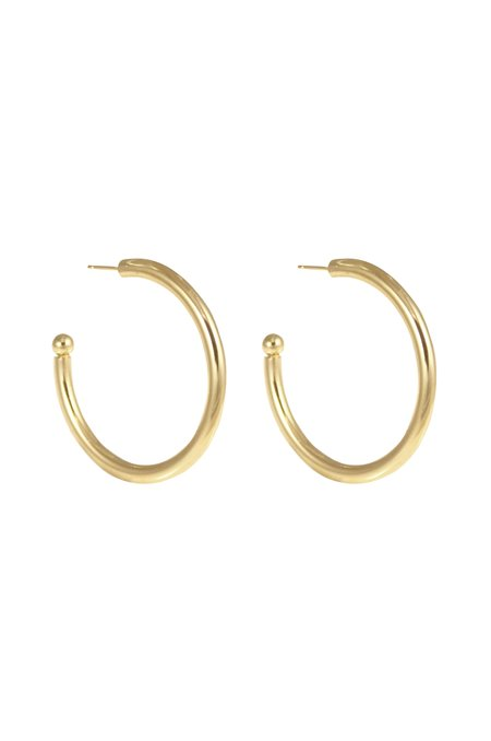 Young Frankk Large Hoop Earrings - Gold Plated