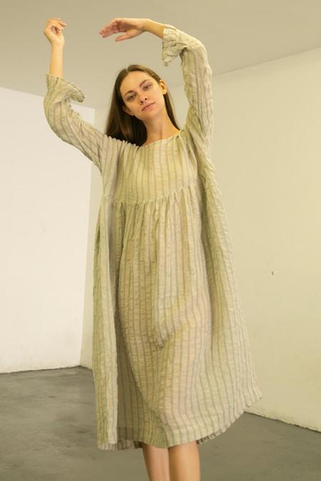 Ichi Antiquites Stripe Dress - Blue/White