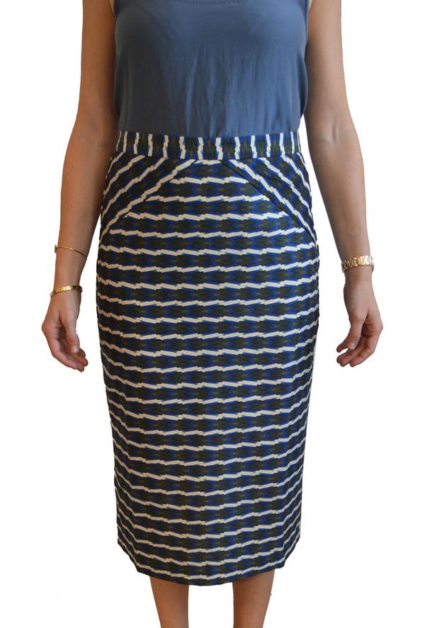 Lauren Moffatt Blue Arrow Skirt
