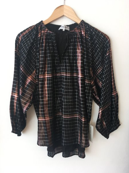 Apiece Apart Isla Blouse - Plaid