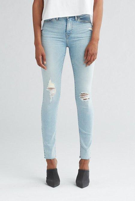 Hudson Jeans Nico Midrise Super Skinny Ankle Jean - Worn Crystal Blue