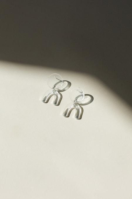 HighLow Glass Arc Earrings