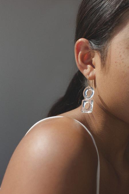 HighLow Glass Shape Stack Earrings