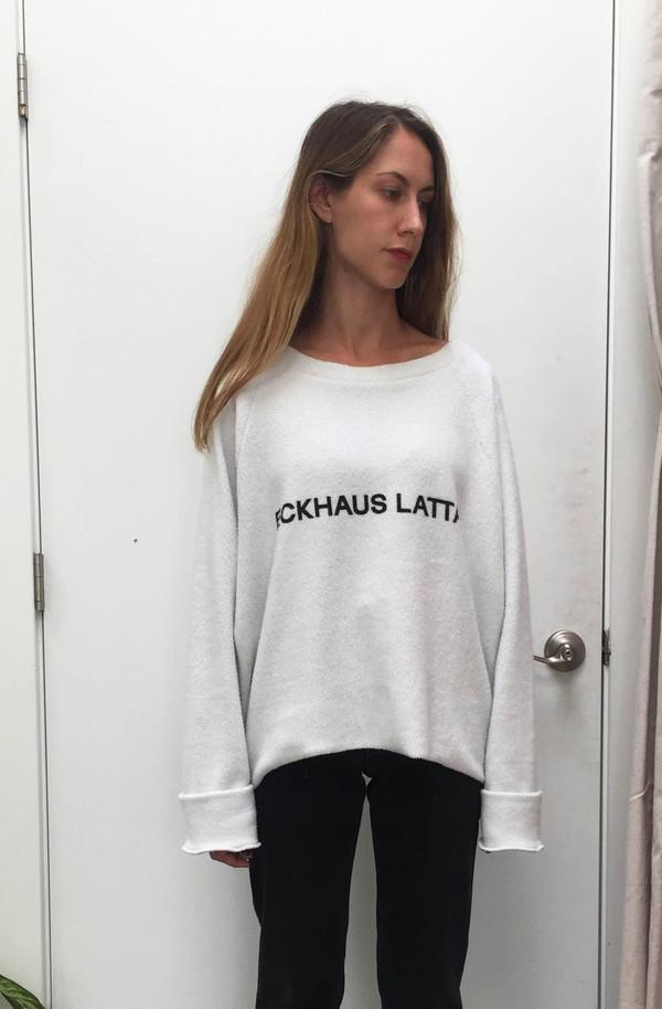Eckhaus Latta Oversized Logo Sweatshirt