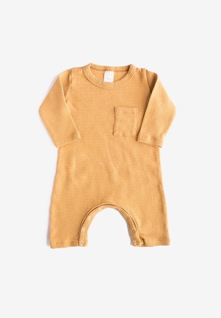 KIDS North of West Kids Thermal Organic  Jumpsuit - Gold