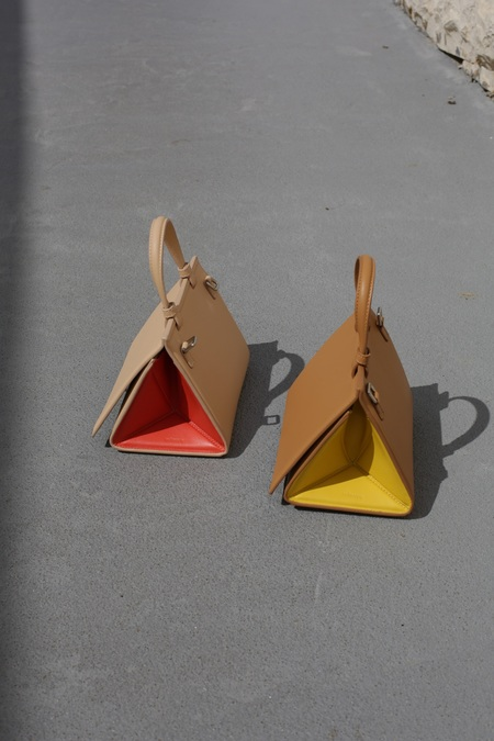 Mlouye Mini Triangle Bag - Tan