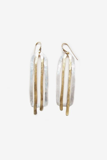 Fail Jewelry peggy earrings - silver/14k yellow gold