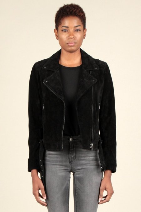 Current Air Black Suede Moto Jacket