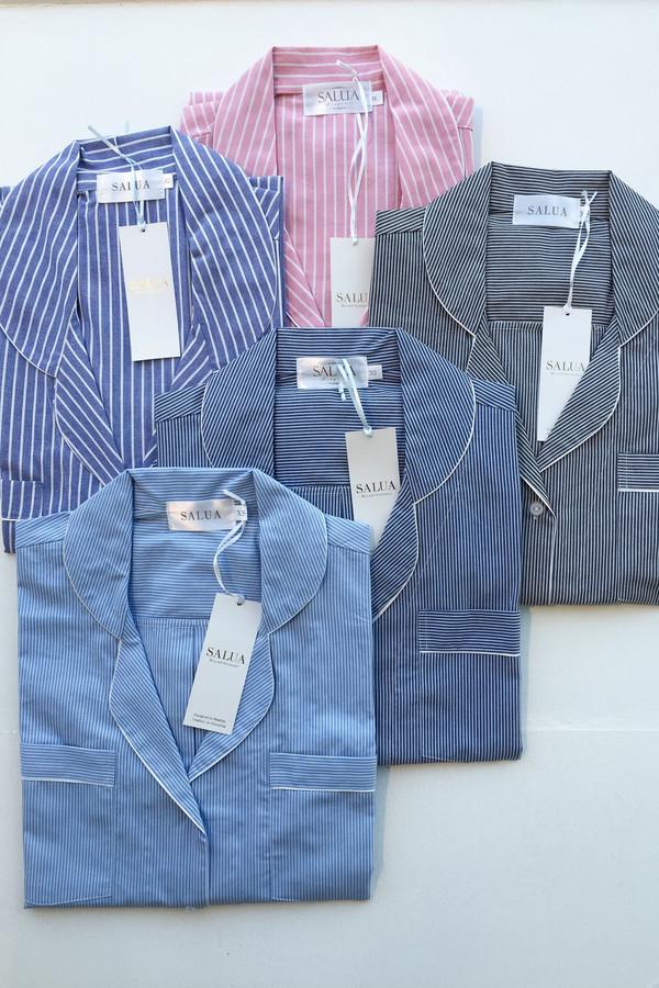 Salua Boyfriend's Shirt in Mediterranean Stripes