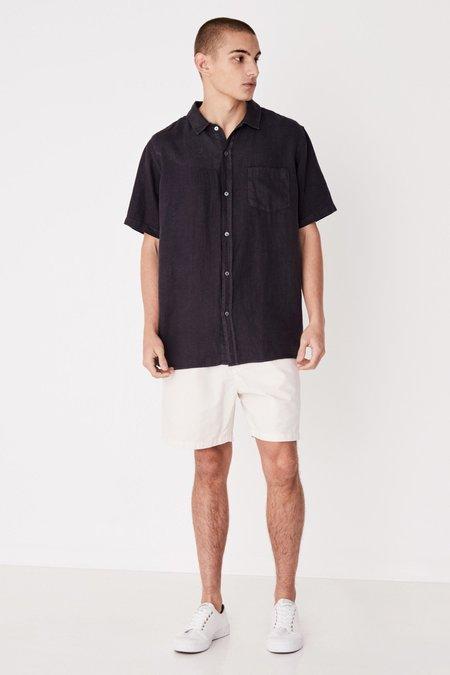 Assembly Label Estate Linen SS Shirt - Worn Navy
