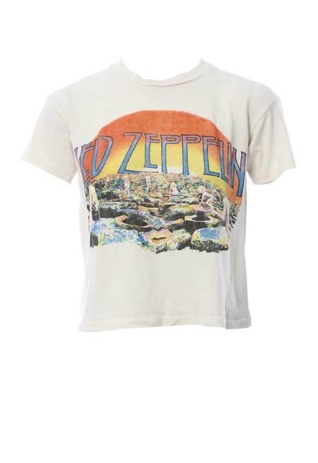 Madeworn Zeppelin Holy Crop Tee - OFF WHITE