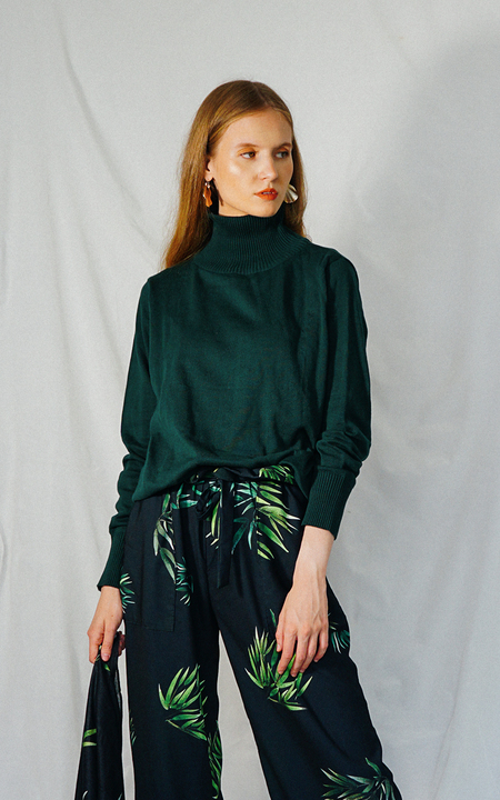 ENSEMBLE HEATHER SWEATER - DARK GREEN