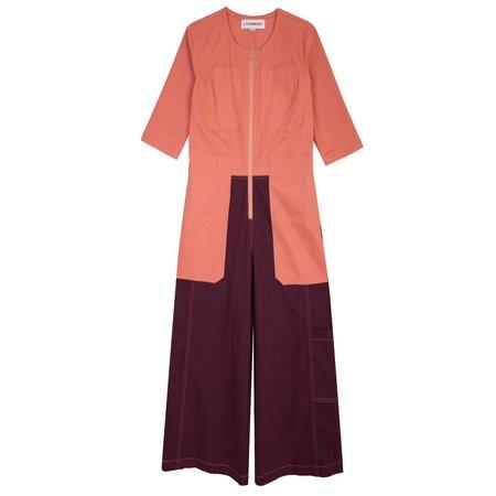 L.F.Markey Fellini Boilersuit - Pink/Burgundy