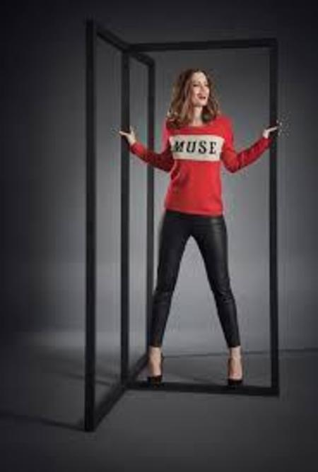 Brodie Cashmere Muse Jumper - Red