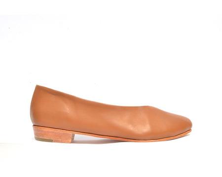 Zou Xou Glove Leather Flat - Dulce de Leche