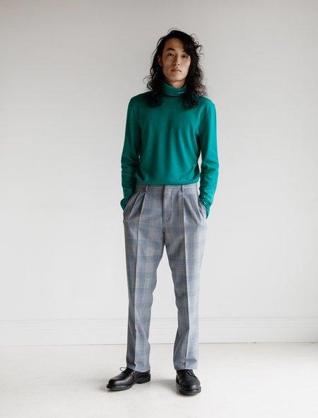 Calvin Klein 205W39NYC Plainweave Wool Trouser - Glen Plaid