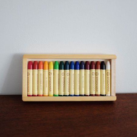 Shop Merci Milo Stockmar Wax Stick Crayons Wooden box (16 assorted)