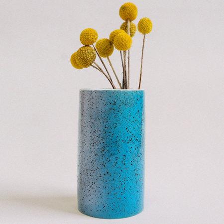 Lindsey Hampton Gradient Crackle Speckle Vase - Blue/Lilac