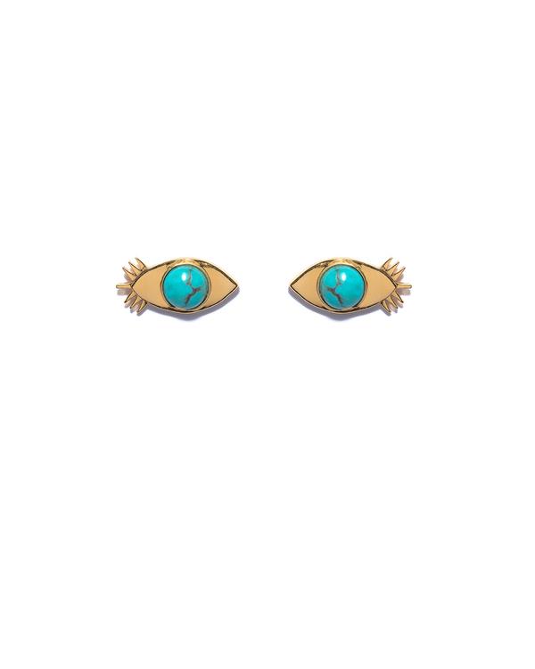 Lizzie Fortunato Evil Eye Stud Earrings