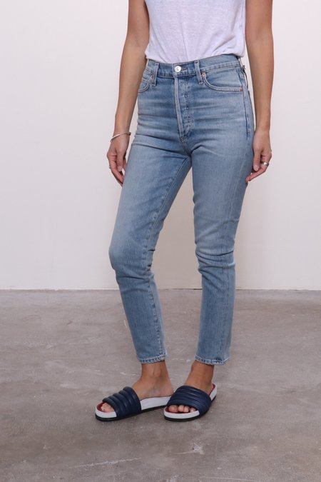 Citizens of Humanity Olivia Crop High Rise Slim Jeans - Renew