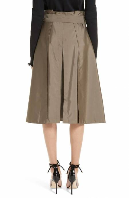 Adeam Trench Skirt - Olive Green