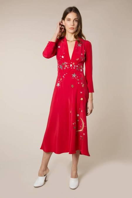 RIXO LONDON RIXO Margo Panel Dress - Red Star